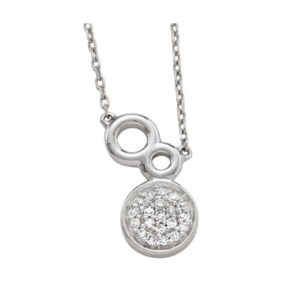 Collier cerles et diamants sur or blanc