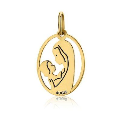 Médaille ronde de la «Vierge à l'enfant» AUGIS