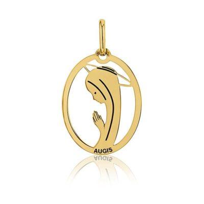 Médaille ronde de «la Vierge au voile» AUGIS