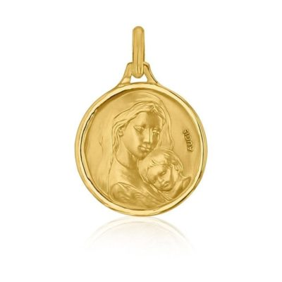 """Médaille ronde de """"la Vierge à l'enfant"""" AUGIS"""