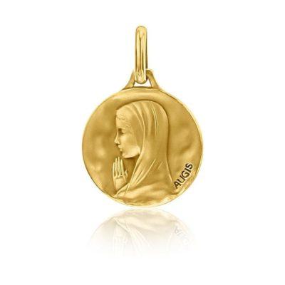 Médaille ronde de «la Vierge  aux mains jointes» AUGIS
