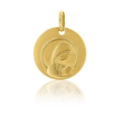 Médaille ronde de la Vierge à l'enfant AUGIS