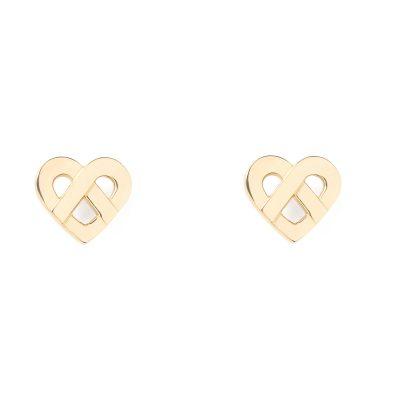 Boucles d'oreilles Coeur Entrelacé POIRAY