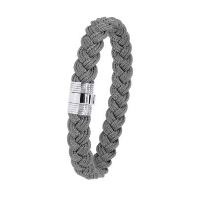 Bracelet Albanu, fermoir 606 acier tresse cordon marin