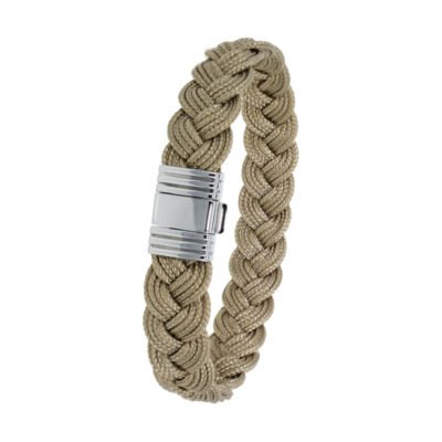 Bracelet Albanu, fermoir 696 acier tresse cordon marin