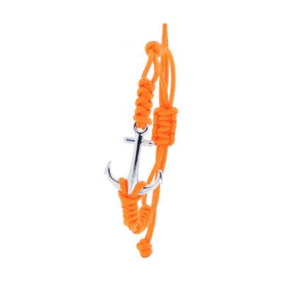 Bracelet Albanu, Ancre argent 5gr tressage cordon marin