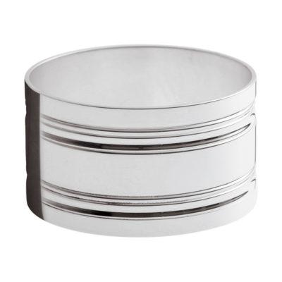 Rond de serviette métal argenté «Filets» – Ercuis