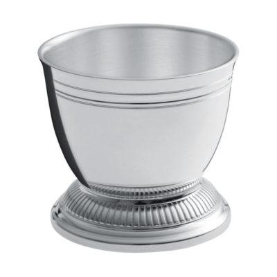 """Coquetier métal argenté """"Godrons"""" – Ercuis"""