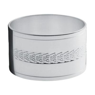 Rond de serviette métal argenté «Lauriers» – Ercuis