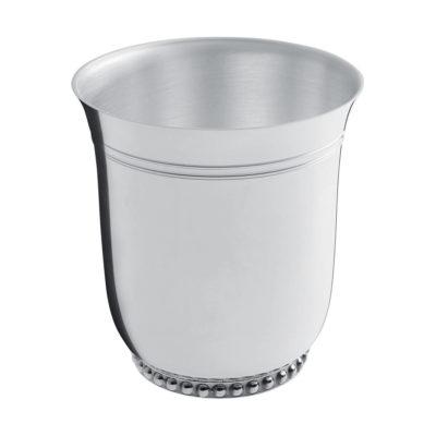 "Timbale métal argenté ""Perles"" – Ercuis"