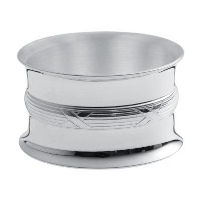 """Rond de serviette métal argenté """"Ruban"""" – Ercuis"""