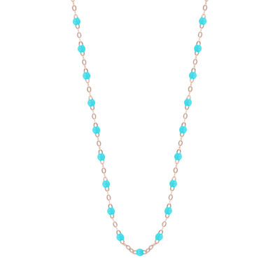 Collier gigiCLOZEAU perles de résine turquoise
