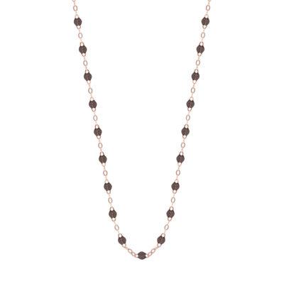 Collier gigiCLOZEAU perles de résine noire
