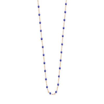 Collier gigiCLOZEAU perles de résine bleu de prusse