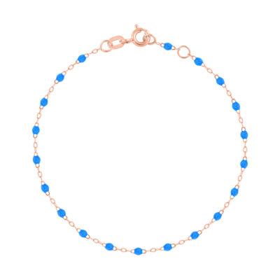 Bracelet gigiCLOZEAU perles de résine bleu fluo
