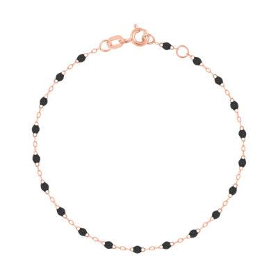 Bracelet gigiCLOZEAU perles de résine noire