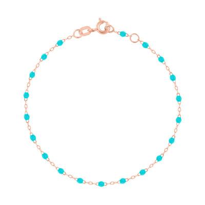 Bracelet gigiCLOZEAU perles de résine bleu turquoise