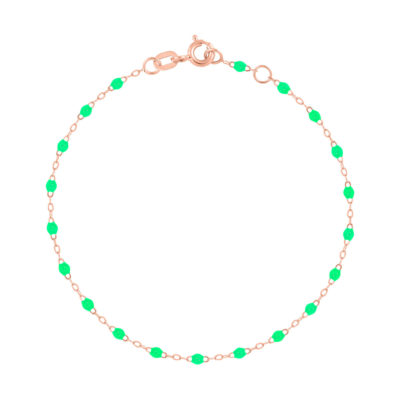 Bracelet gigiCLOZEAU perles de résine vert fluo