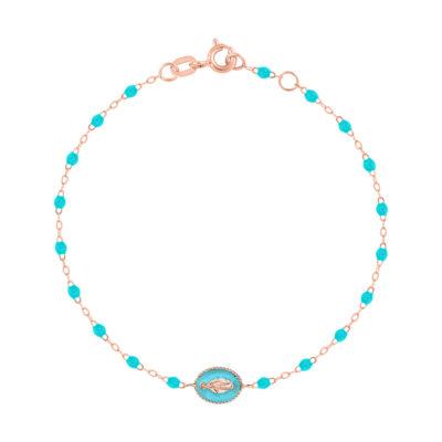 Bracelet gigiCLOZEAU «madone» et perles de résine turquoise