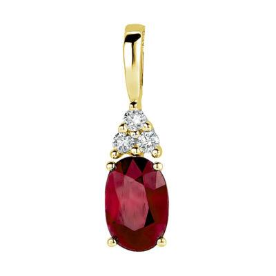Pendentif Rubis et diamants sur or jaune