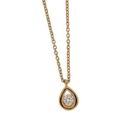 Collier diamant sur or jaune et diamant