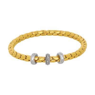 Bracelet « Spring » et diamants sur or jaune