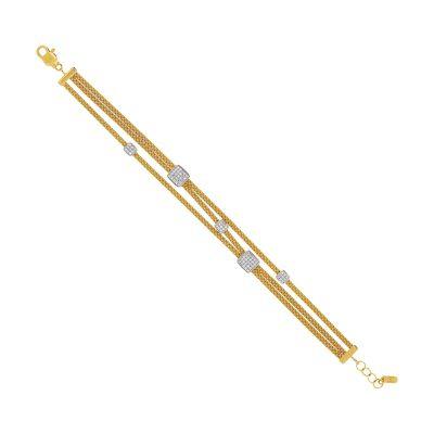 Bracelet diamants sur or jaune