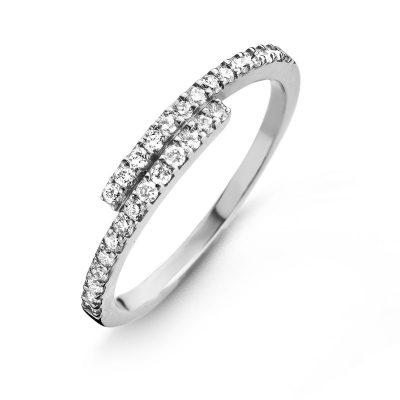 Bague diamants sur or blanc