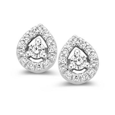 Boucles diamants sur or blanc