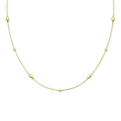 Collier diamants sur or jaune