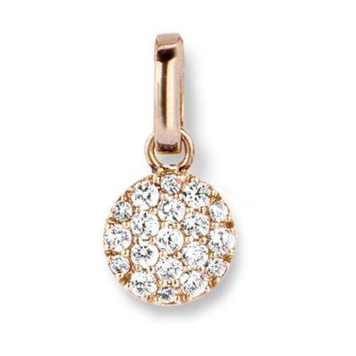 Pendentif diamants sur or rose