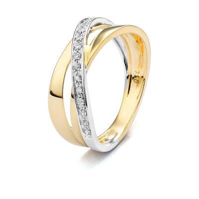 Bague bicolore Diamants